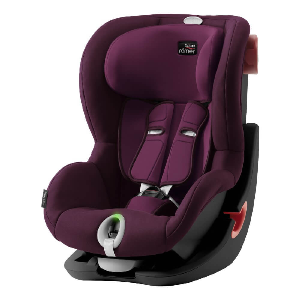 Britax Roemer King II LS - Burgundy Red (Black Series)